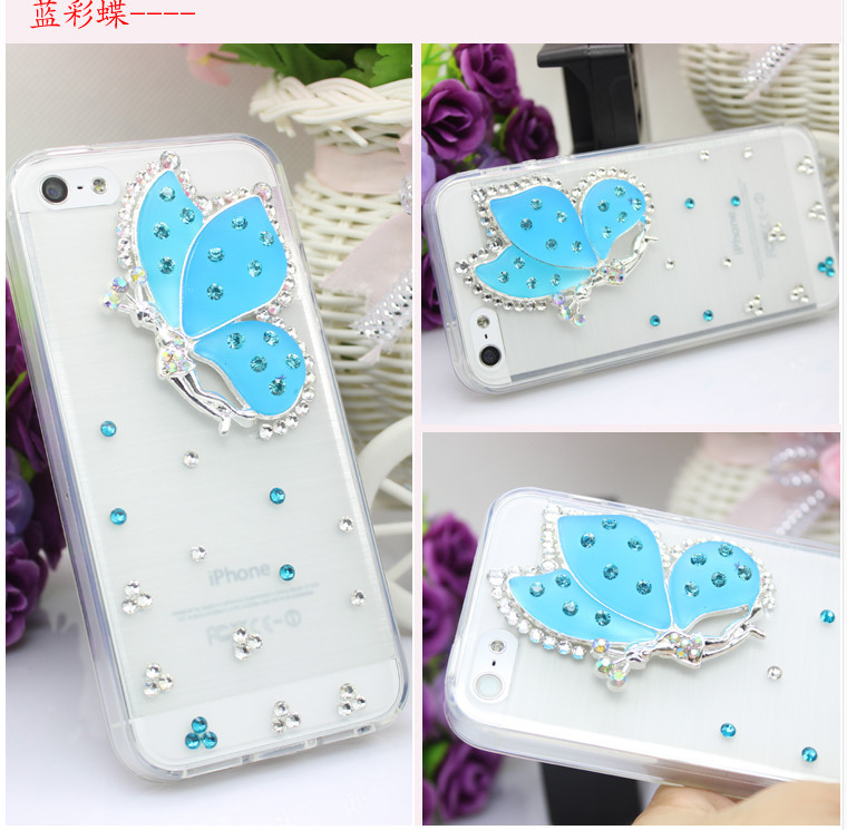 For Huawei P7 case rhinestone mobile phone cases Transparent case protective cover colorful glossy case 4