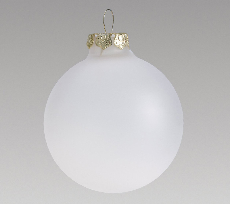 Frosted Glass Ornaments For Crafts