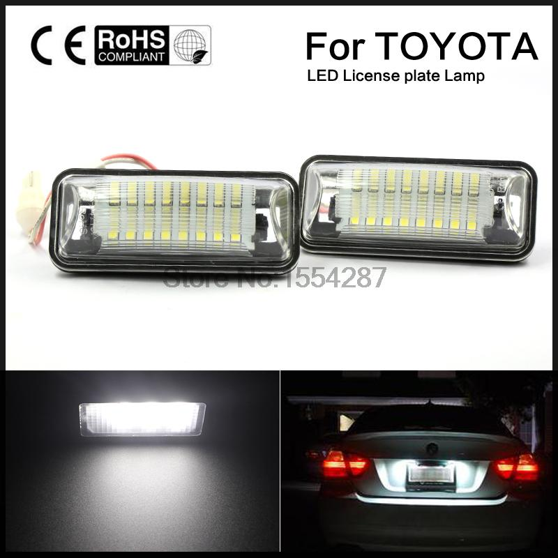 2pcs LED SMD number  LICENSE PLATE LIGHT For Toyota GT86 FT86 Subaru BRZ WRX Xenon Bright 52mm racing aluminum radiator for 13 16 subaru brz frs gt86 fr s toyota sl