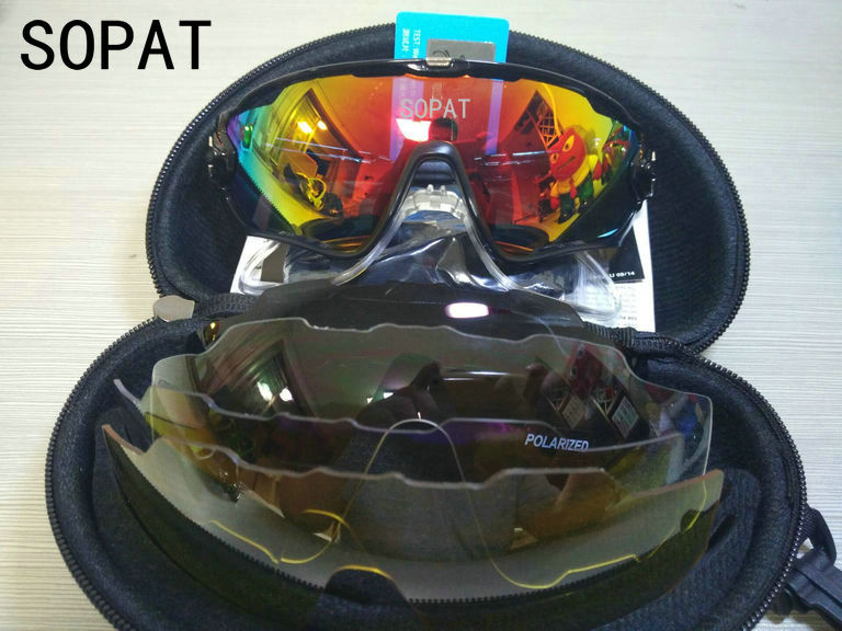 HTB1fFdbQXXXXXcjXpXXq6xXFXXXu - 2018 4 Lens Mountain Velo Goggles Polarized Jaw Breaker Sunglasses Men Women MTB sopat Eyewear JBR Sun Glasses with Myopia Frame