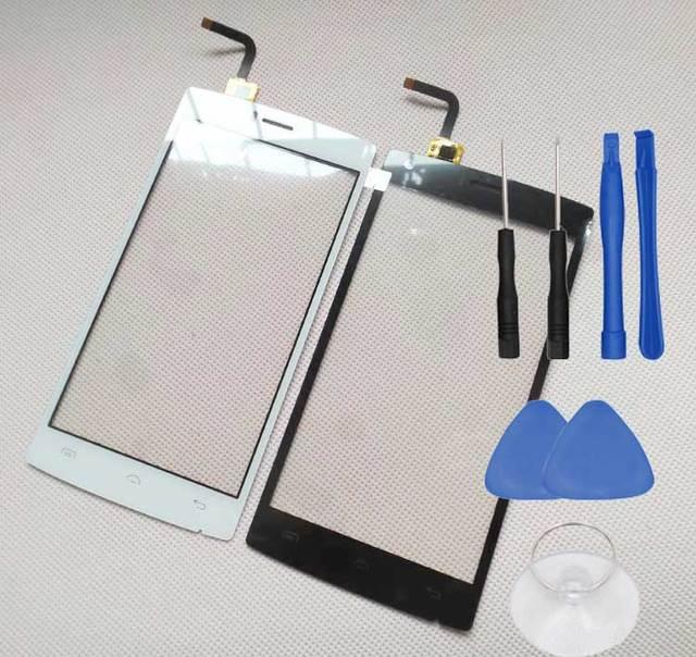 5 polegada doogee x5 max pro frente touch panel lente de vidro digitador da tela de peças originais frete grátis com número de rastreamento