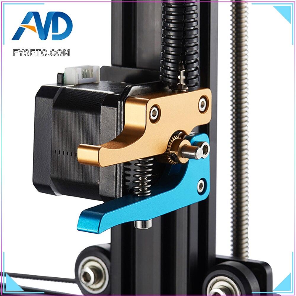 Control remoto de Metal completo Distal de la cabeza de la máquina de alimentación de alambre Bowden extrusión para Anet A8 Prusa I3 etiqueta tarántula de alimentación 1,75