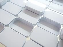 цена на 2017 New Arrival white  tin box Rectangle tin silver tin gift box sealing plain tin box 95x60x21mm without hinge