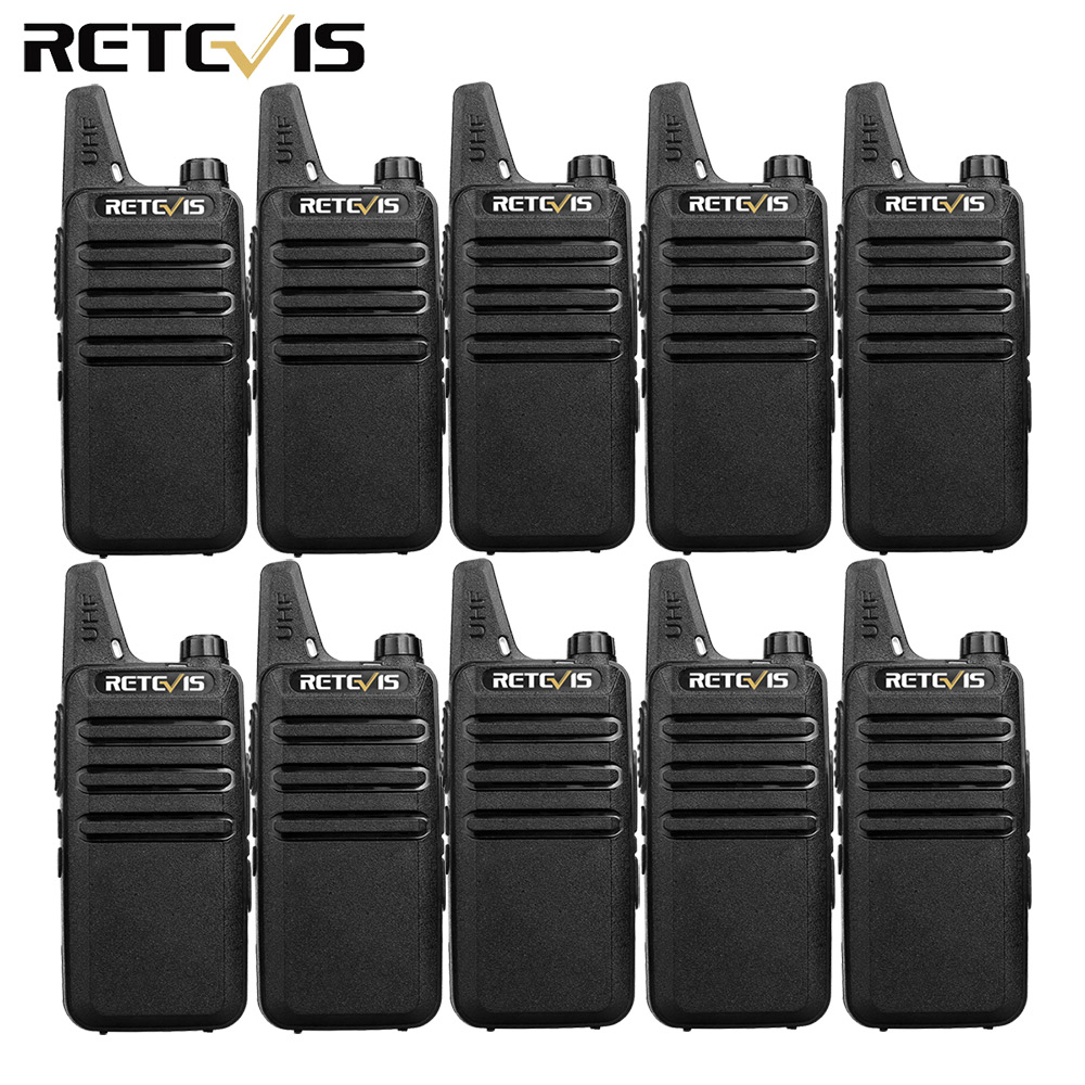 10pcs Retevis RT622 RT22 Mini Walkie Talkie Radio Station 16CH UHF VOX Scan Squelch Two Way