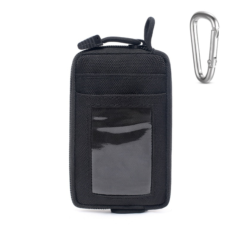Waterproof EDC Pouch Portable Tactical Key Change Wallet Travel Kit Coin With Card Pack Zippers Waist Bag for Camping Hiking image