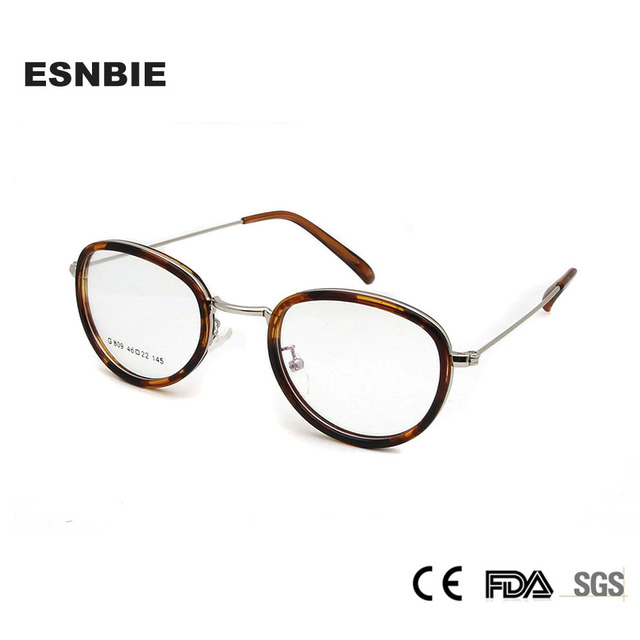 356e00fd0114e Fashion Glasses Women Eyeglasses Frame Vintage Optical Glasses Frame Men  Retro Round Glasses Demo Lens Geek Lentes Mujer