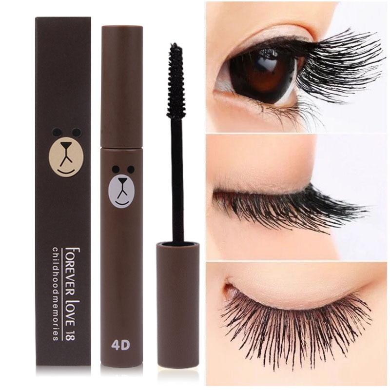 2018 New Fashion Cute 4D Fiber Mascara Long Black Lash ...