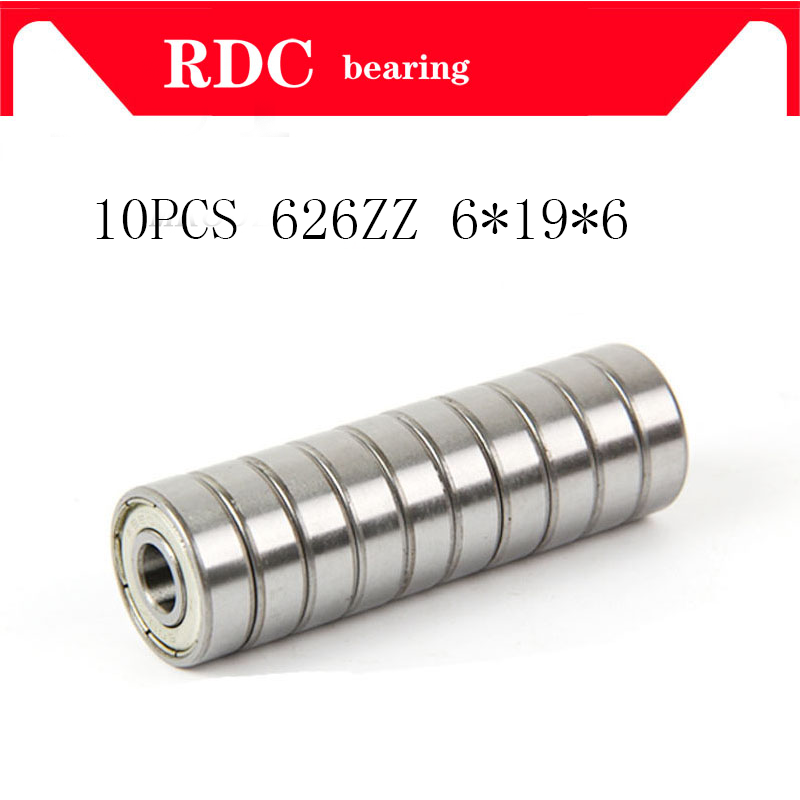 Free shipping 10pcs 626 626zZ R-1960ZZ abec5 <font><b>626z</b></font> 6262RS Miniature deep groove ball <font><b>bearing</b></font> 626ZZ 6*19*6 mm image
