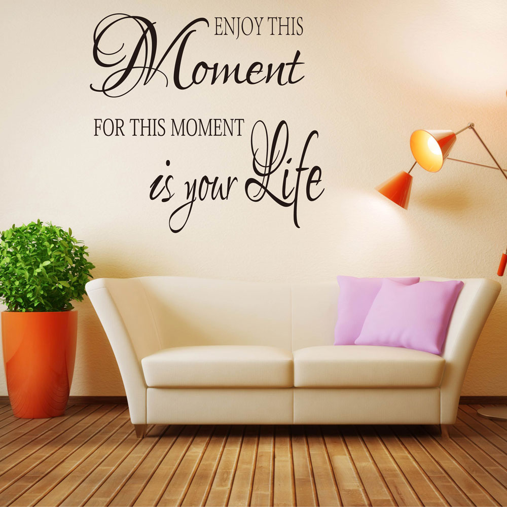 Enjoy This Moment Wall Decal Wall Sticker Quotes Inspired Lettering