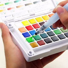 лучшая цена Refillable Water Brush Ink Pen for Water Color Calligraphy Painting Illustration Pen School Office Stationery Student Drawing