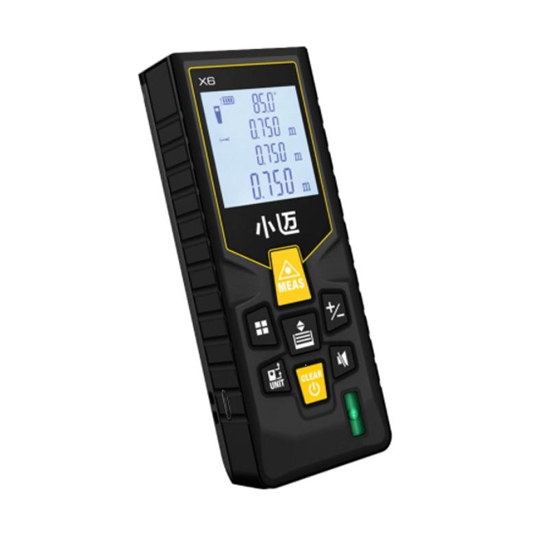 Mileseey Mini telémetro Digital láser metro de distancia láser cinta de medir y accesorios osciloscopios de la herramienta 100 M/80 m/60 m -40 m telémetro láser