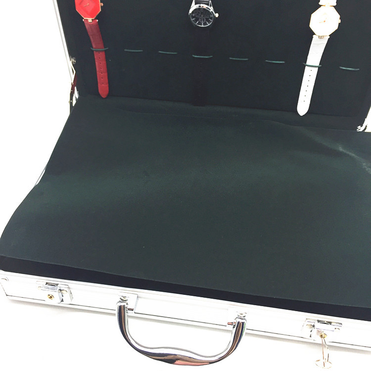 Portable Exhibition Case : Watch handle box portable watch seller case luggage watches collect