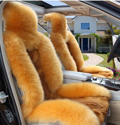 Khaki yun yastığı canavar avtomobil oturacağı yastığı yun - Avtomobil daxili aksesuarları - Fotoqrafiya 3