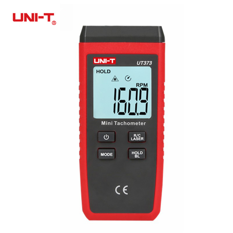 UNI-T UT373 Mini Digital Laser Tachometer LCD Display Non-Contact Tachometer RPM Speed Measurement Meter Odometer with Backlight digital display motor speed watch strap speeding alarm electronic tachometer sensor measurement speed