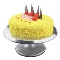 צלחת מסתובבת עוגת סגסוגת אלומיניום עוגת פטיפון קישוט Stand פלטפורמה מסתובבת פטיפון אפיית כלים