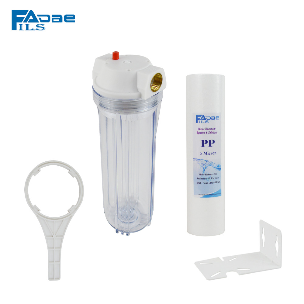 3/4 Port,Transparent Whole House Water Filter with 10in. x 2.5in. Sediment Filter 5 Micron /Mounting bracket/Plastic wrench tryp port cambrils 4 коста дорада