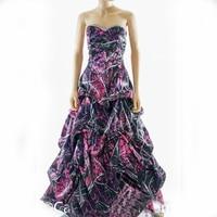 muddy girl pink camo prom dress 2017 vestido de festa longo camouflage wedding party dresses custom make free shipping