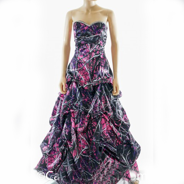 muddy girl pink camouflage prom dress 2018 vestido de festa longo ...