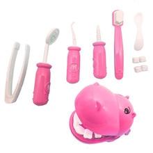 Дети ролевые игры игрушка стоматолога проверить Зубы Модель Набор Медицинский Набор Обучающие ролевые игры моделирование обучающие игрушки для детей