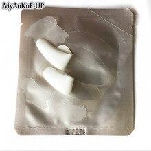 50 paczek żelowa opaska na oko do przedłużania rzęs srebrny papier naszywki hydrożelowe rzęsy pod silikonową opaska na oko przedłużanie rzęs