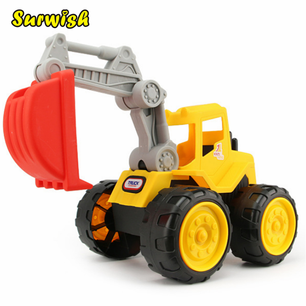 Surwish Beach Excavator Children Large Machineshop Truck Series Simulation Kids Fancy To ...