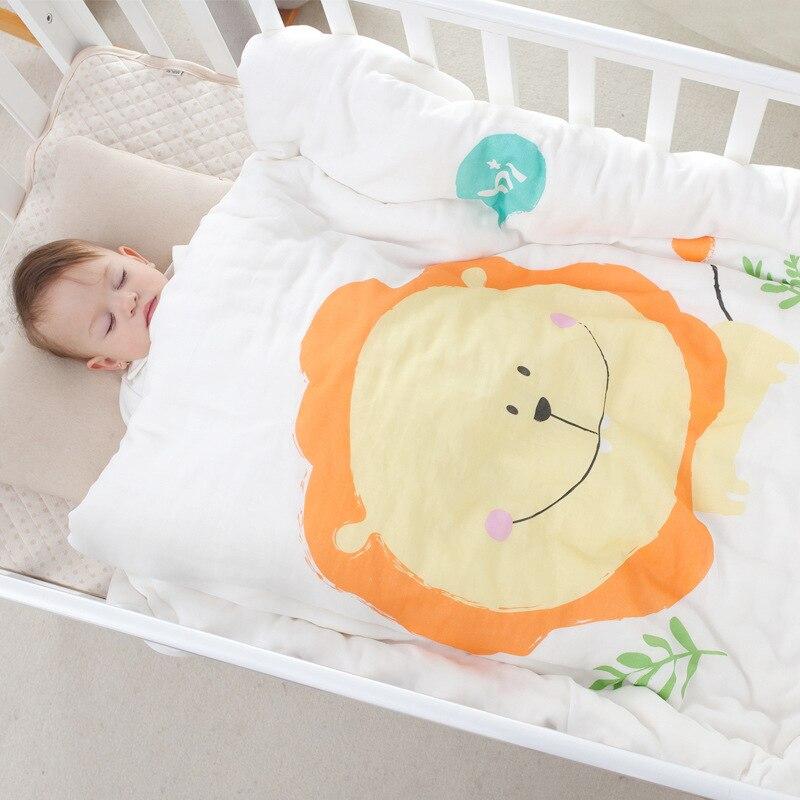 Bébé garçon et fille gaze couette printemps et automne enfants couette maternelle couverture t couverture nouveau-né couverture 120*150 cm