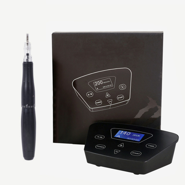 Image 3 - Professional Eyebrow Tattoo Machine Pen For Permanent Make Up Eyebrows Microblading Makeup DIY Kit With Tattoo Needle-in Tattoo Guns from Beauty & Health