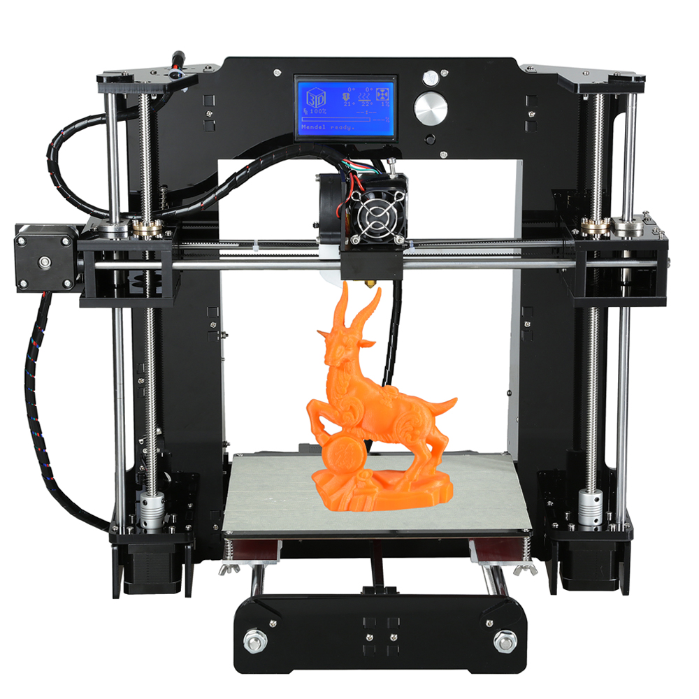 Discount Price 2017 High Quality A6 3D Printer Easy Assemble Reprap prusa i3 3D printer Kit DIY With Free Filament
