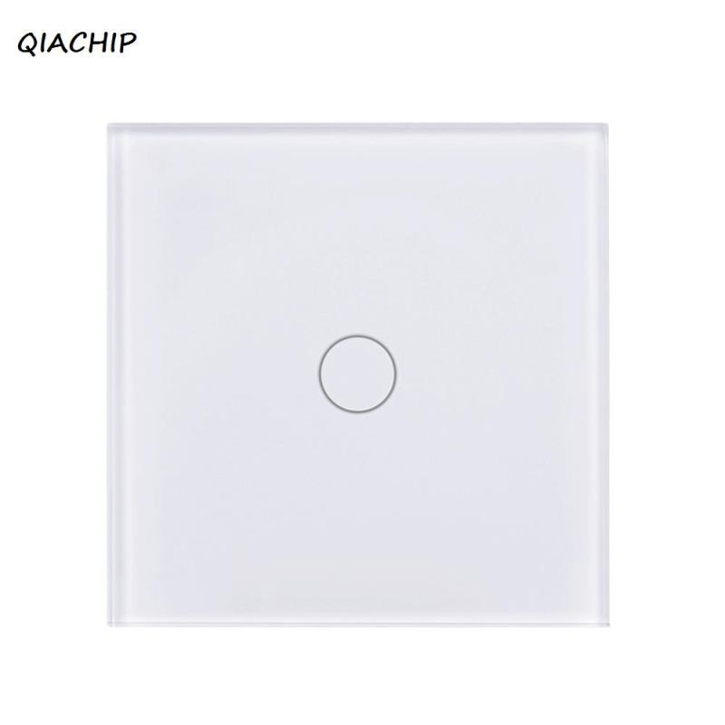 EU Standard WiFi Smart Switch 1 Gang Light Wall Light Switch Touch Crystal Tempered Glass Panel Sensor Switch For Amazon Alexa smart home eu standard 1 gang 2 way light wall touch switch crystal glass panel waterproof and fireproof