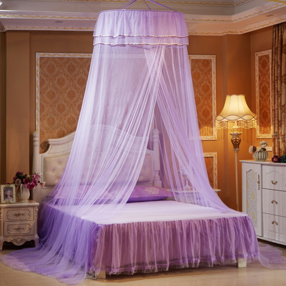 Baby Princess Nets Hanging Round Lace Canopy Baby Bed Netting Comfy Infant Crib Netting for Crib Full Queen Bed Baby Sleep in Crib Netting from Mother Kids