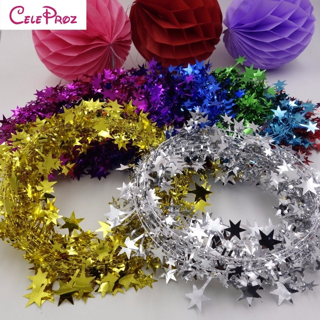 Tinsel and garland design decoration