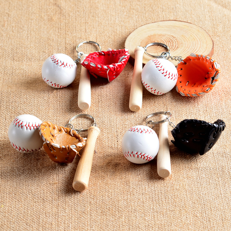 Fashion Multicolor Men Bags Car Key Ring Simulated Tennis Baseball Key Chain Couples Lover Gift For Women Keychain Jewelry