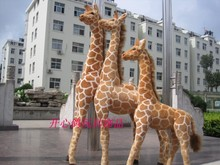 big size plush giraffe toy new creative simulation giraffe doll gift about 140cm