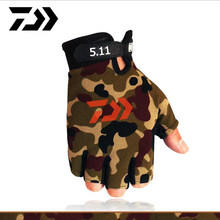 Daiwa 5 Fingers Cut Outdoor Sport Hiking Gloves Winter Warm Fishing Gloves Cotton Waterproof Anti-slip Durable Fishing Glove(China)