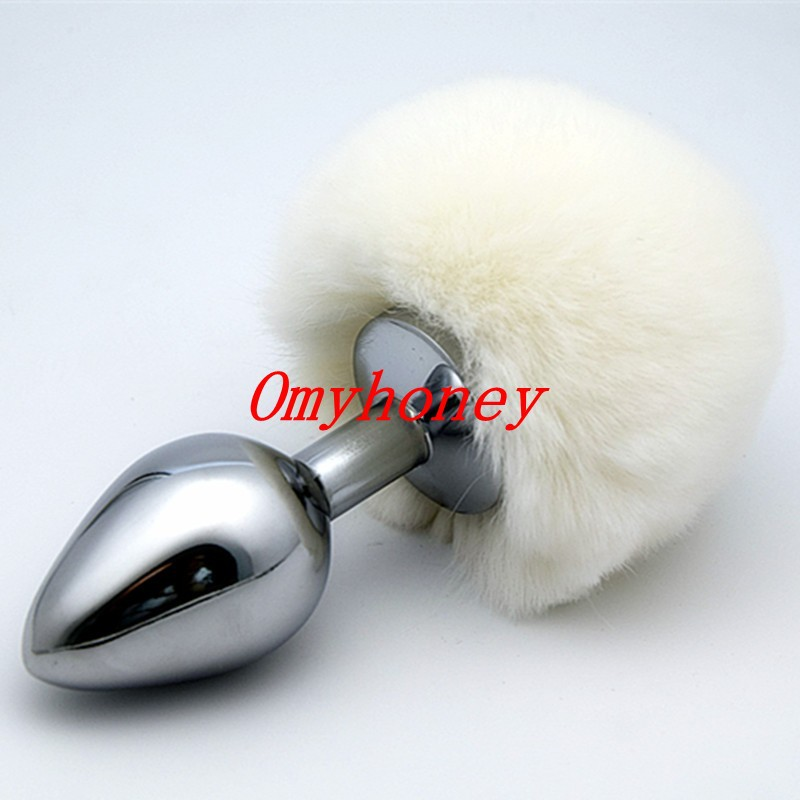 NEW!<font><b>2015</b></font> <font><b>Rabbit</b></font> <font><b>Tail</b></font> <font><b>Anal</b></font> <font><b>Plug</b></font>,<font><b>Silver</b></font> Metal Butt <font><b>Plug</b></font>,Fun Sex Games Adult Products For Women and man- Small size meal