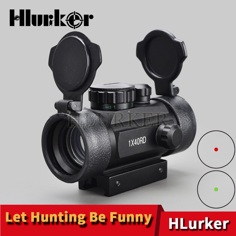 Tactical Hunting Holographic 1x40mm Airsoft Red Green Dot Optic Sight Rifle Scope 11-20mm Weaver Rail MountTactical Hunting Holographic 1x40mm Airsoft Red Green Dot Optic Sight Rifle Scope 11-20mm Weaver Rail Mount