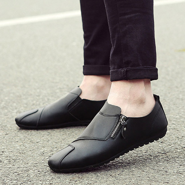 2016 New PU Leather Men Loafers Shoes Summer Breathable Fashion Casual Slip-on Flats Driving Shoes Moccasins Black White Orange
