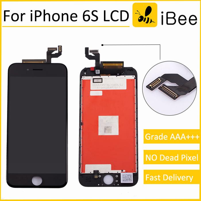 Prix pour 10 pcs bonne qualité pour iphone 6s lcd écran avec tactile digitizer assemblée d'affichage remplacement blanc noir livraison dhl
