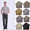 Frete grátis 16 cores 100% algodão Mens calças de salão grandes e altos roupas masculinas de negócios de alta cintura Premiun calças de trabalho presentes