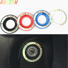цена на Car Ignition Switch Keyhole Luminous Decoration Ring Cover Sticker Ralli ART For Mitsubishi Lancer/ASX/Outlander Car Accessories