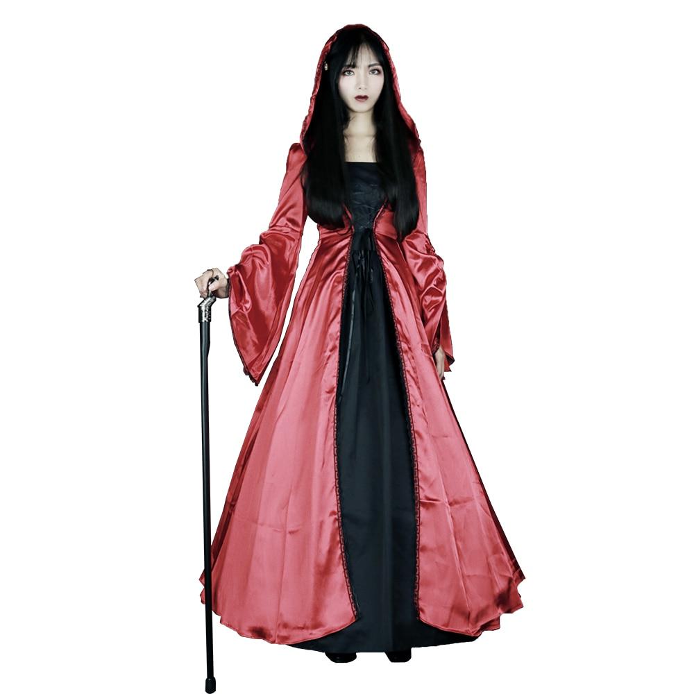 Lolita robe victorienne femme Vintage Court Costume Cosplay fête robe de bal gothique magnifiques robes britanniques avec capuche