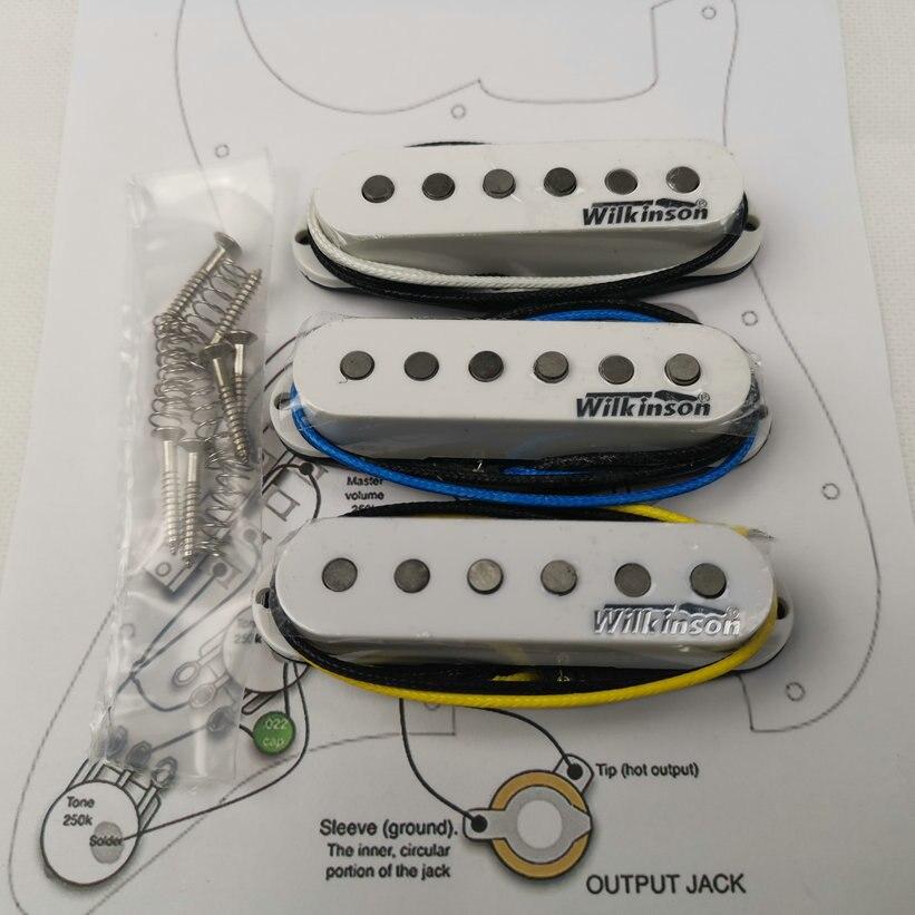 Wilkinson WVS Alnico5 Pickups Strat Style Eleciric Guitar Pickups White1 set Welding circuit diagram
