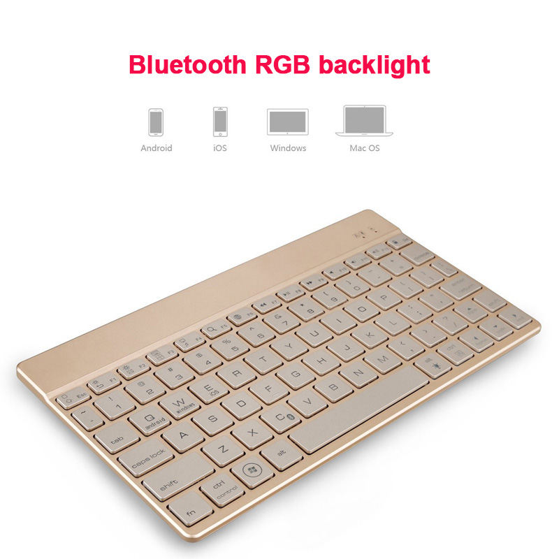 Metal Charging Slim Wireless Keyboard Aluminum Alloy Materials for Laptop PC JLRL88