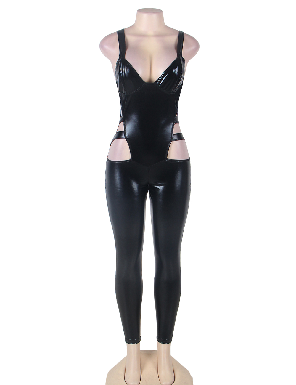 Compare Prices on Black Leather Jumpsuit- Online Shopping/Buy Low ...