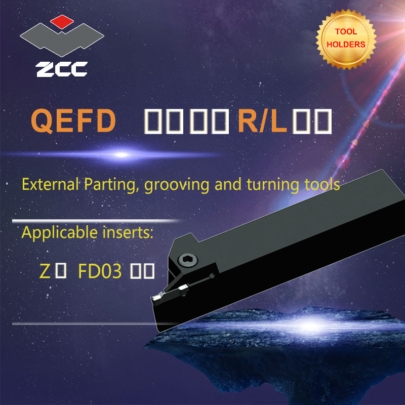 ZCC CNC lathe tool holder QEFD tungsten carbide cutting tool plate tools holder external parting grooving and turning tools цены