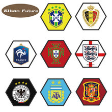 9eb7881b217 Car football team logo car sticker Argentina Germany Spain Brazil Portugal  France Belgium England