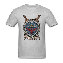 Summer Fashion The Shield The Legend Of Zelda T Shirt Men Short Sleeve Soft Cotton Men T-shirt Tops Tee Plus Size