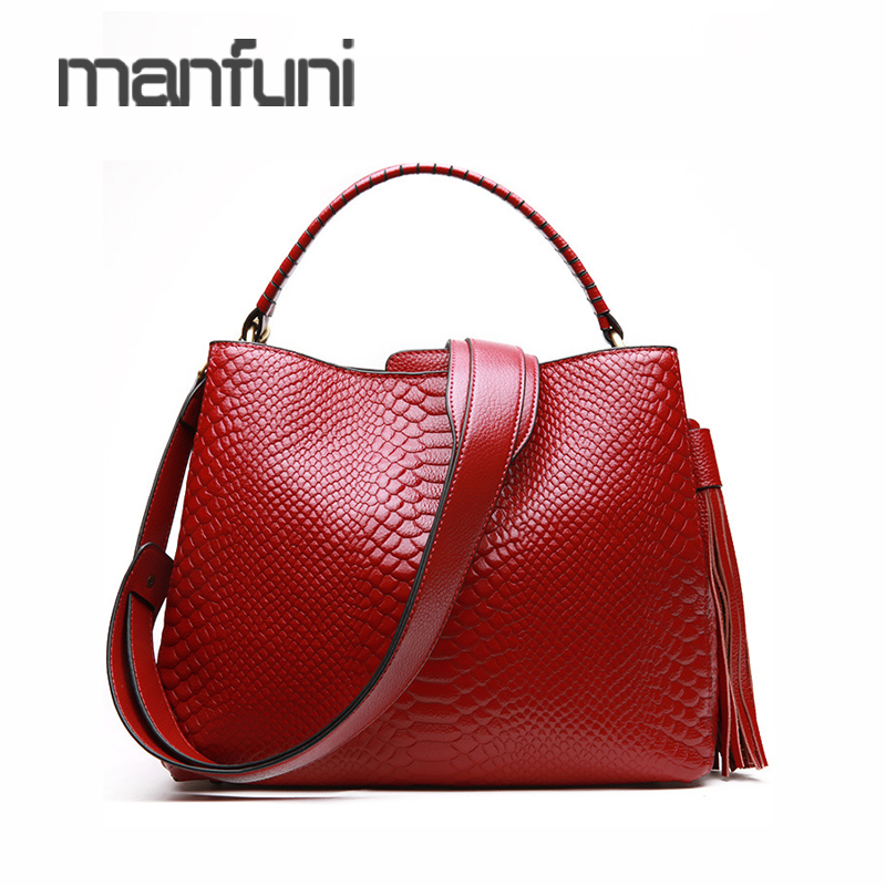 Ladies Messenger Shoulder Bags Tassel Handbag Women Luxury Genuine Leather Serpentine Shoulder Bag Fashion Totes Bags For Women new brand genuine leather women bag fashion retro stitching serpentine quality women shoulder messenger cowhide tassel small bag