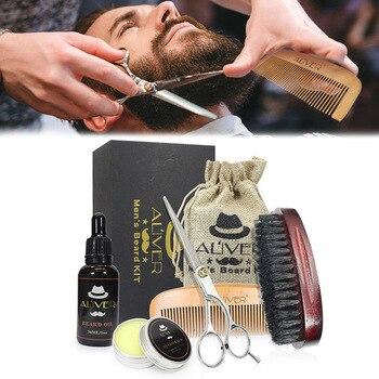 Для мужчин средства ухода за бородой тримминг комплект без запаха кондиционер для бороды масло усы для коррекции роста средства ухода за бо...