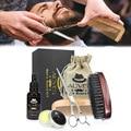 Mannen Baard Care Grooming Trimmen Kit Ongeparfumeerde Baard Conditioner Olie Snor voor Vormgeven Groei Baard Care Tool Kits HB88
